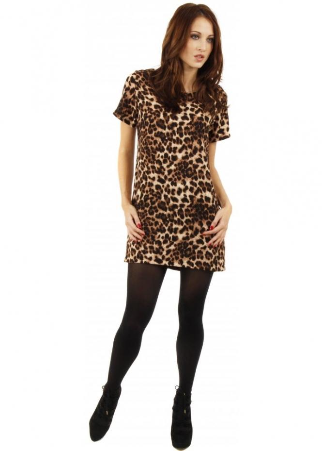 Animal Print Mini Dress Leopard Print Dress Leopard