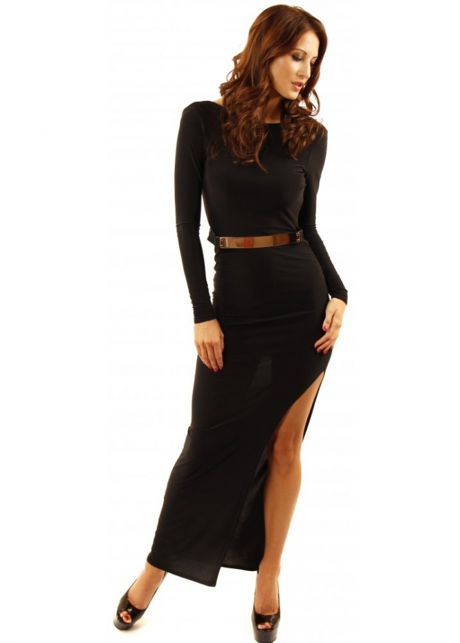 ad lib gold belted maxi dress backless maxi dress