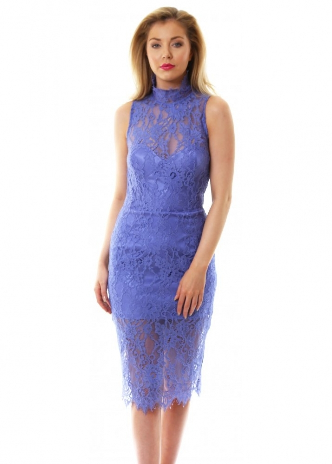 Miss Milne Idaho Blue Tailored Lace Dress