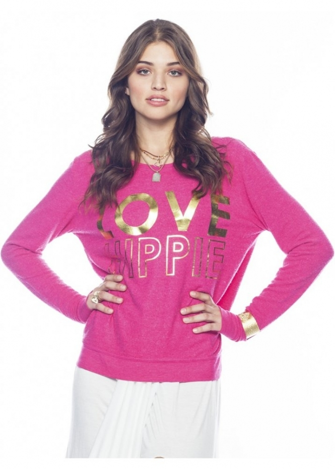 Peace Love World Love Hippie Calalilly Comfy Top