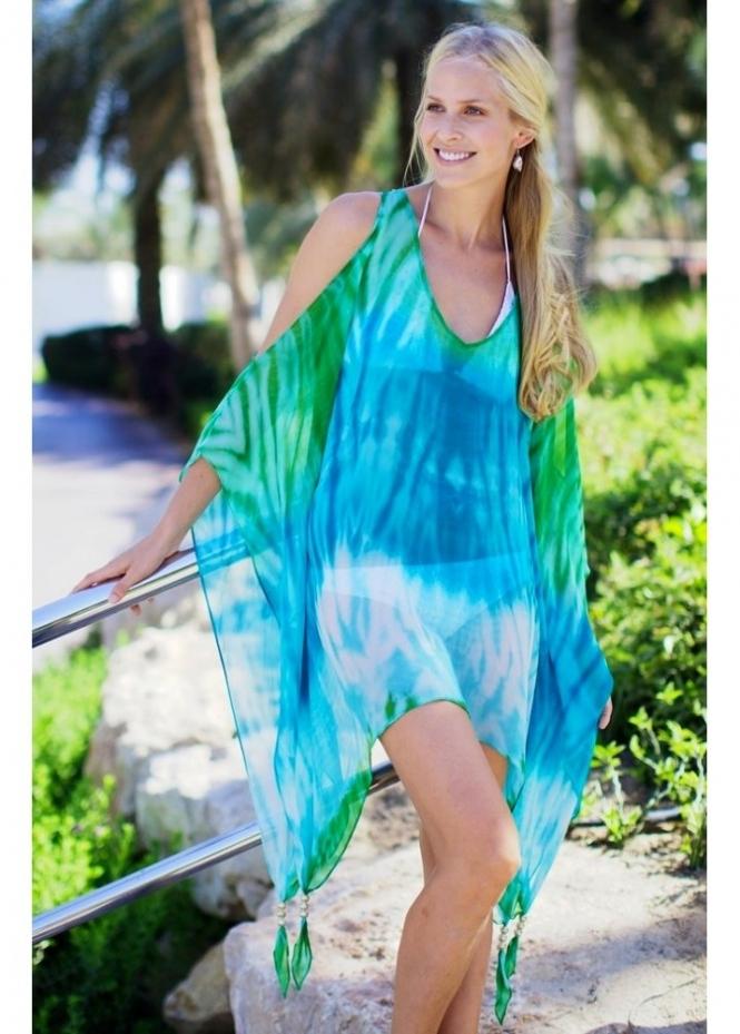 Starblu Resort Wear Starblu Turquoise Silk Kaftan