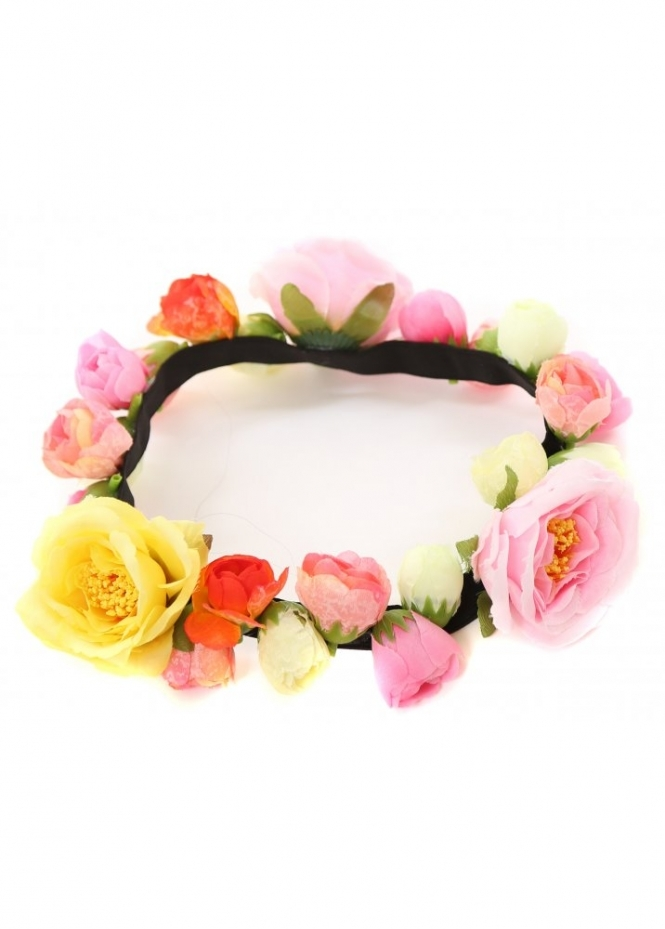 Designer Desirables Cecily Mixed Roses Hair Garland Band