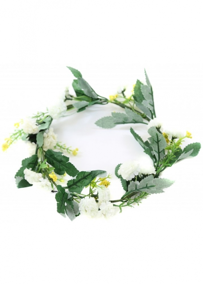 Designer Desirables Larraine White Wild Flowers Hair Garland