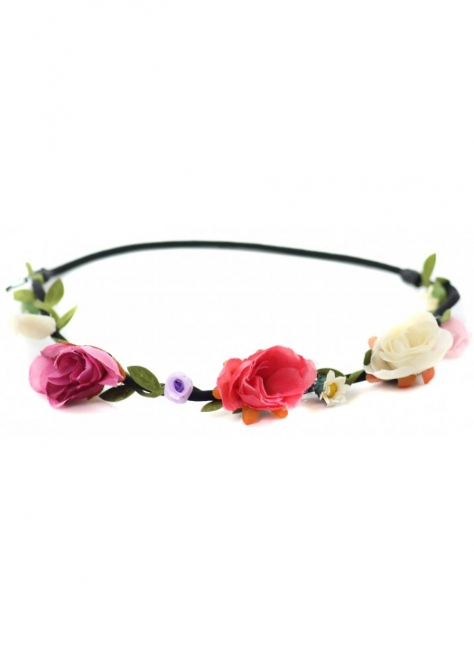 Designer Desirables Rose Buds & Daisies Thin Bandeau Head Band