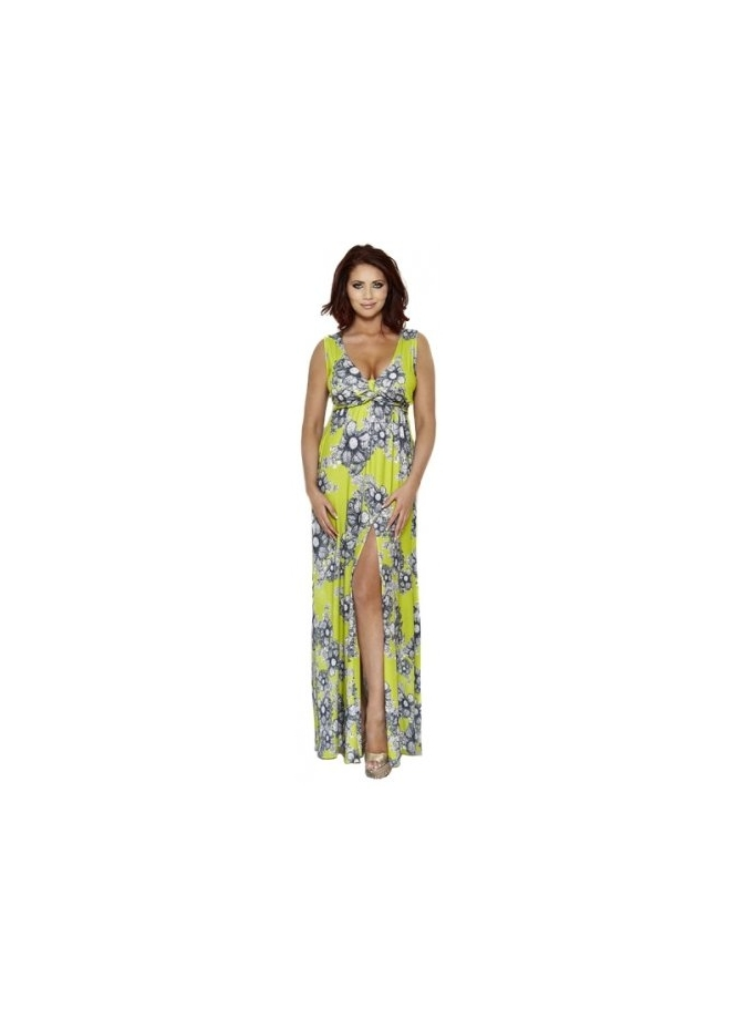Amy Childs Natalie Green Printed Summer Maxi Dress