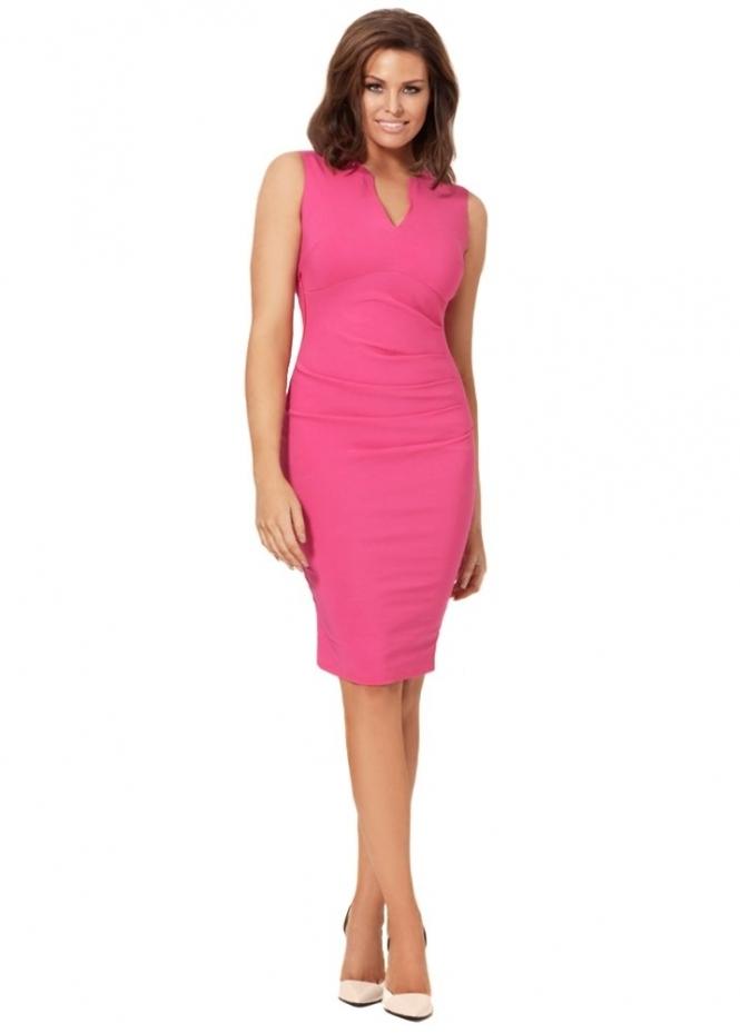 Jessica Wright Effie Dress Hot Pink Pencil Dress By Jess
