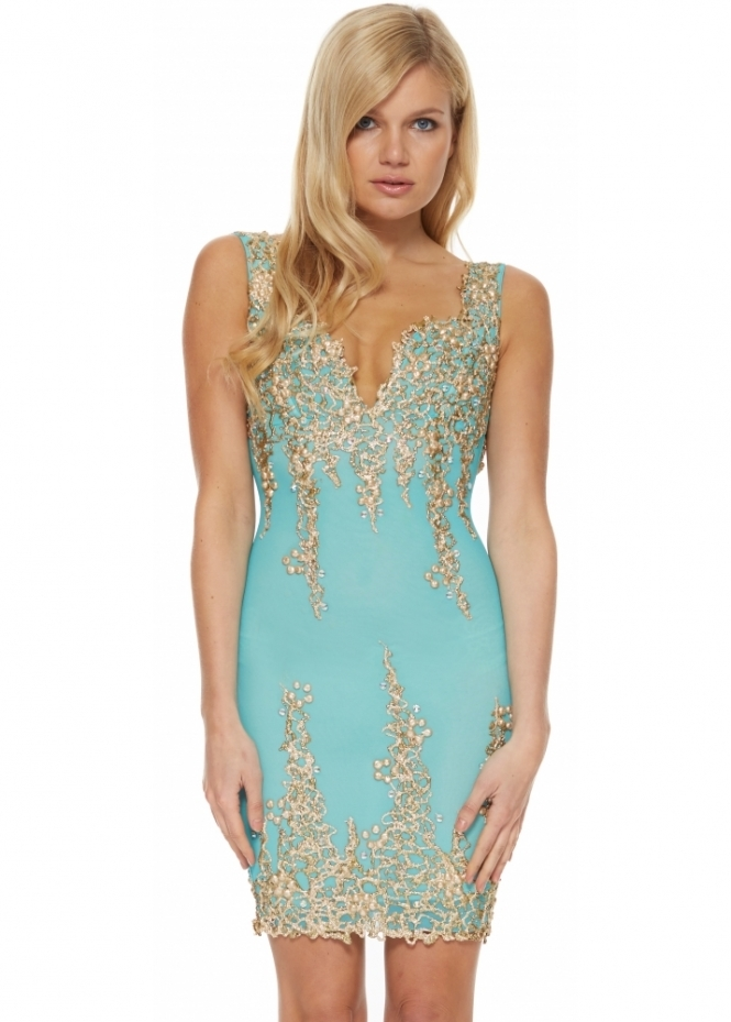Holt arianna dress in turquoise buy holt dresses for Holt couture dresses