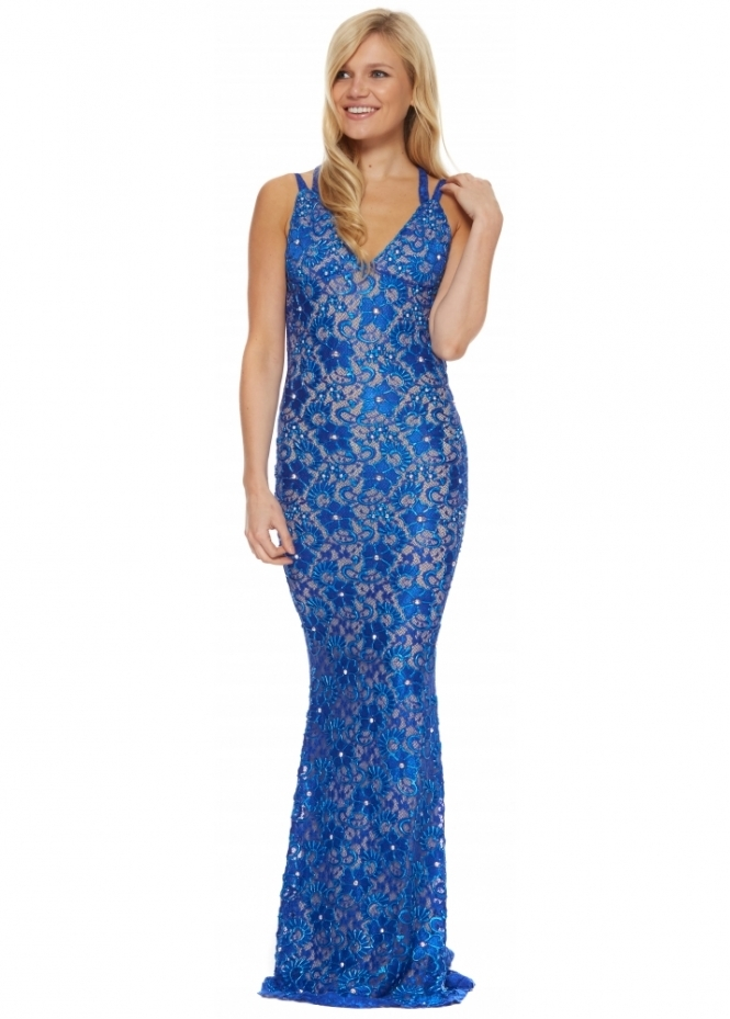 Holt dress holt liv lace dress in blue buy holt dresses uk for Holt couture dresses