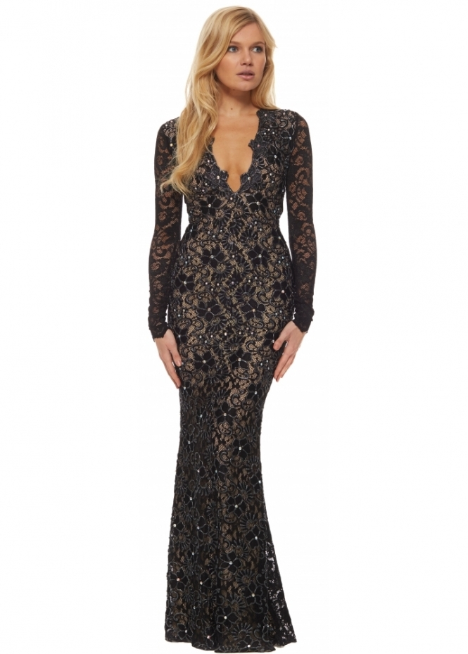Holt eli dress in black holt long black eli evening dress for Holt couture dresses