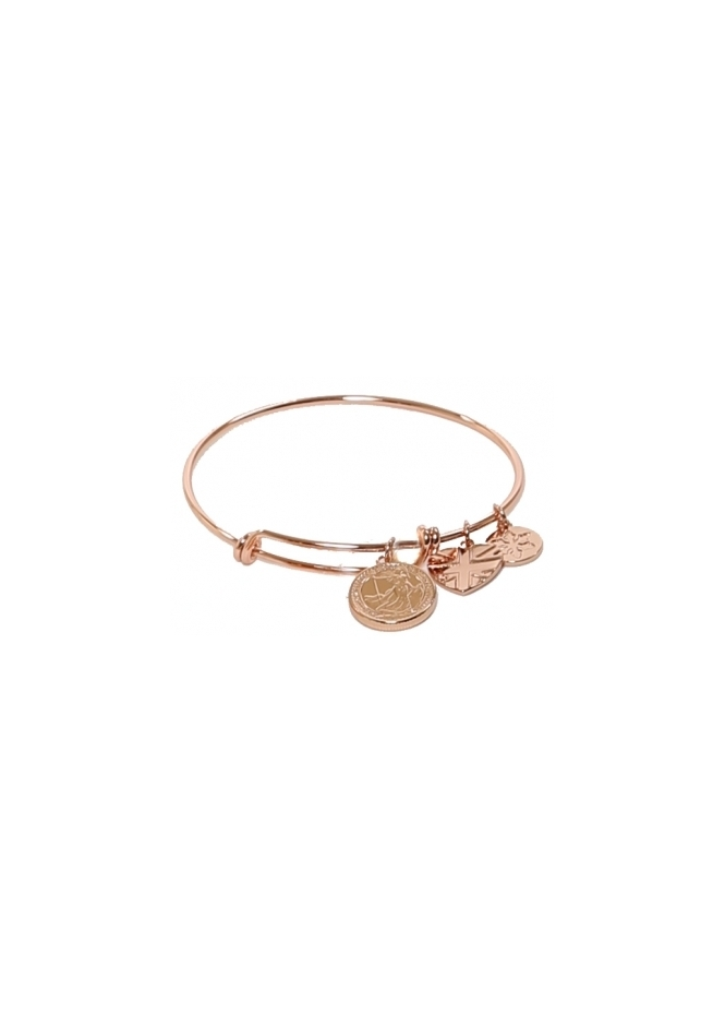 Sparkling Jewellery The Iconic Charm Bangle In 22ct Rose Gold