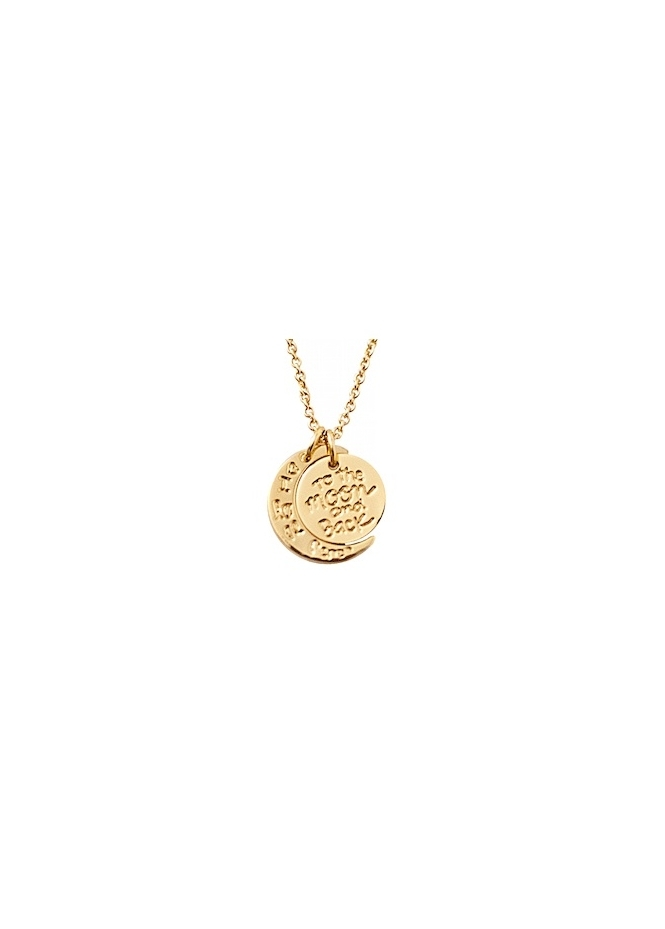 Sparkling Jewellery To The Moon & Back Yellow Gold Necklace