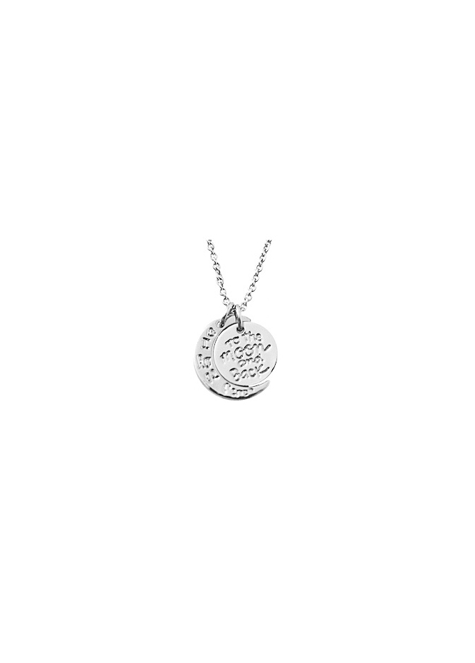 Sparkling Jewellery To The Moon & Back Silver Necklace