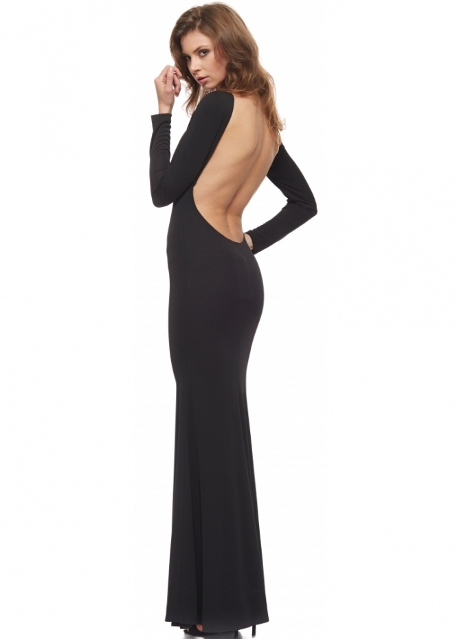 Abyss Sierra Dress In Black With Sexy Low Scoop Back