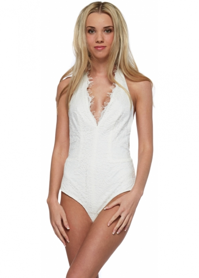 The Jetset Diaries Virgo Bodysuit In White Lace