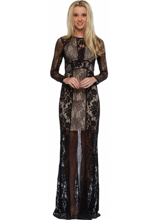 The Jetset Diaries Escape Dress Black Backless Lace Maxi