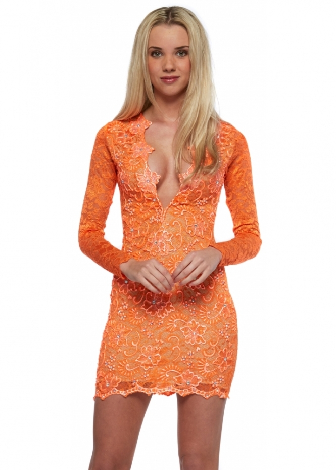 Holt Eli Dress In Orange Holt Dresses Designer Desirables