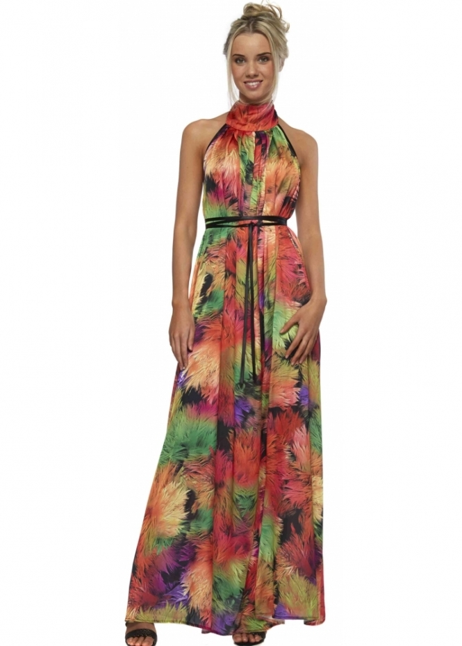 Clare Mccullock Amp Weebber Maxi Dress Red Multicolour