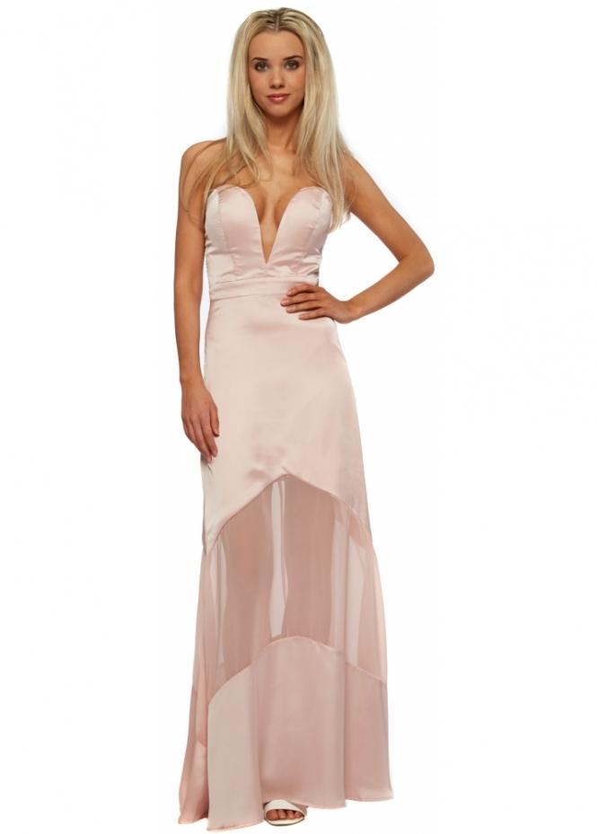 Jarlo Elizabeth Maxi Dress In Blush Pink