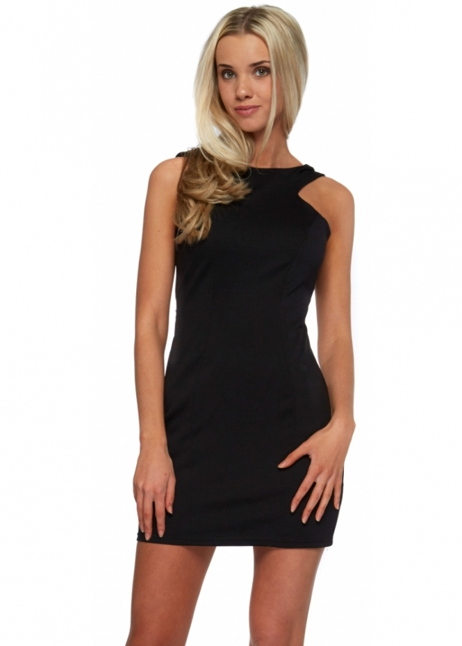 Designer Desirables Black Backless Mini Dress With Oversized Bow