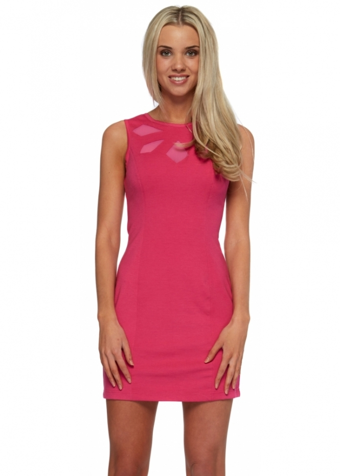 Keepsake Love Out Of Lust Pink Bodycon Mini Dress