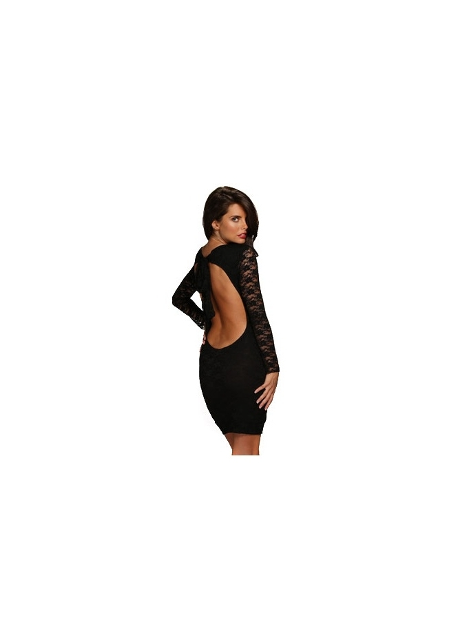 Honor Gold Paige Black Lace Bodycon Mini Dress