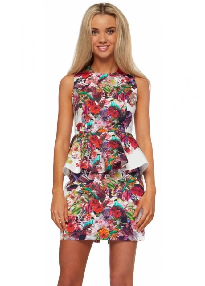 Rebecca Rhoades Lulu Structured Peplum Mini Dress