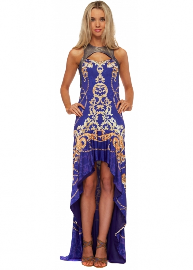 Party 21 dress blue printed maxi party 21 maxi dresses for Waterfall design dress