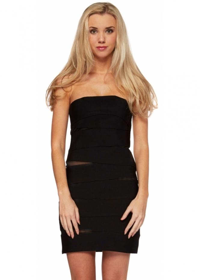 Forever Unique Selfish Peek Black Bandage Bodycon Dress