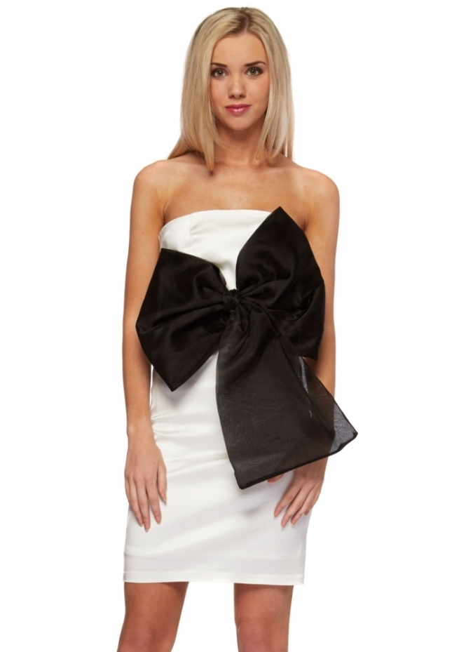 Forever Unique Jackie Dress With Oversized Mesh Bow