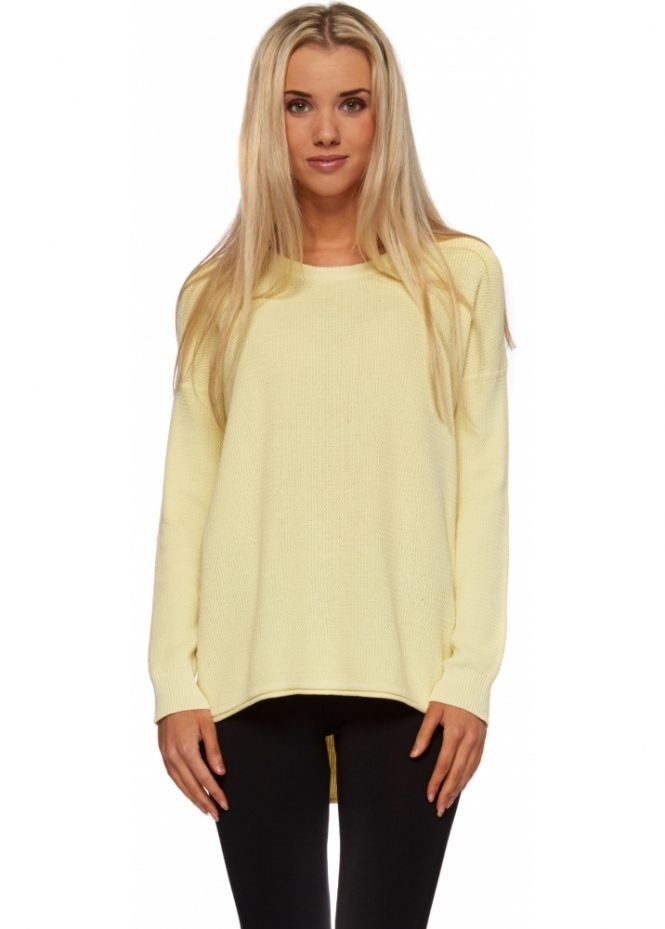 Dr Denim Amira Sweater In Pale Yellow Cotton