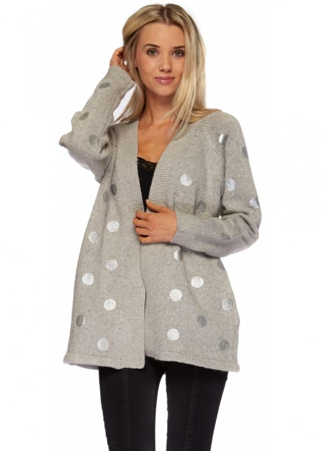 Silvian Heach Chunky Knit Grey Cardigan