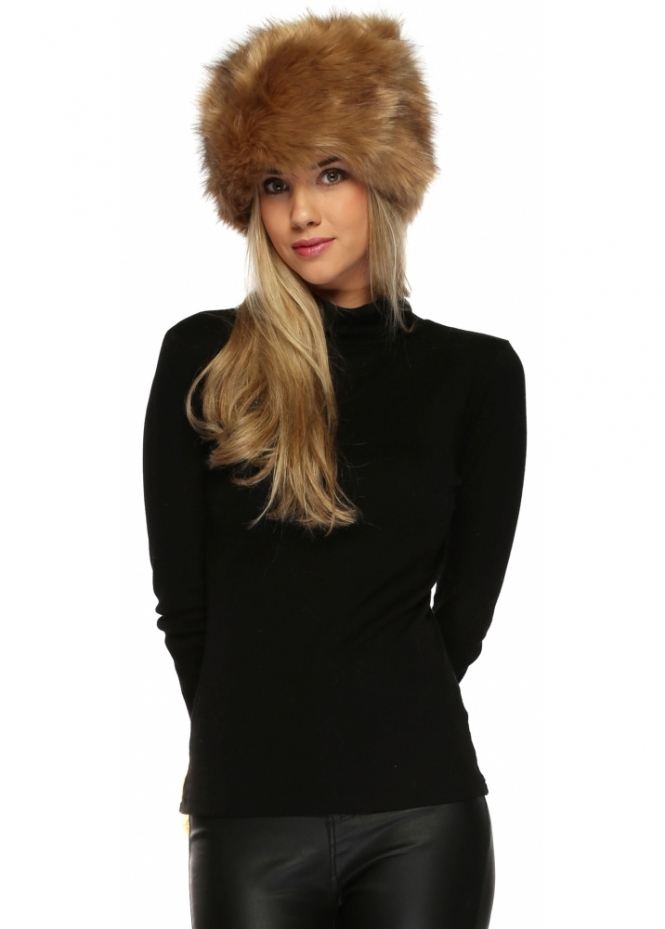 Urban Mist Dark Beige Thick Faux Fur Cossack Hat