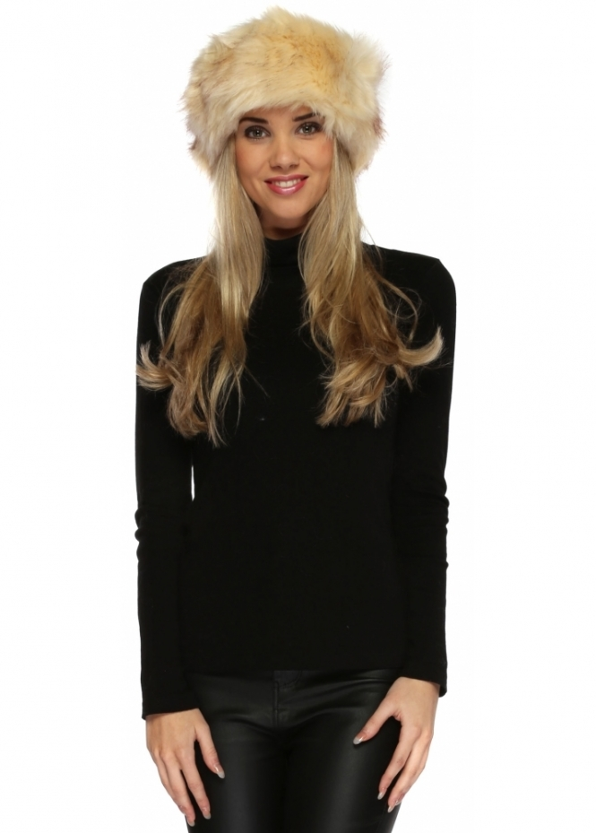 Urban Mist Beige Thick Fluffy Faux Fur Headband