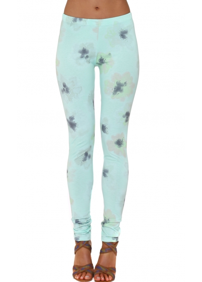A Postcard From Brighton Pastel Posy Leggings In Mojito