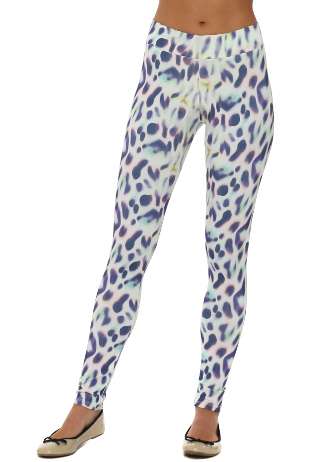 A Postcard From Brighton Molly Marbs Leopard Print Foam Leggings