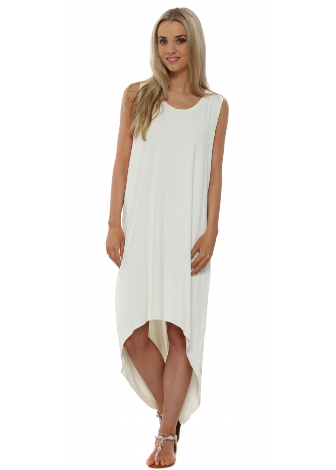 A Postcard From Brighton Dressie Cream Foam Tunic Dress