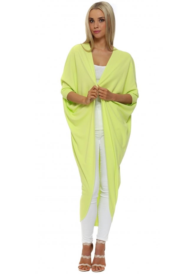 A Postcard From Brighton Tanya Maxi Drape Cocoon Citrus Cardigan