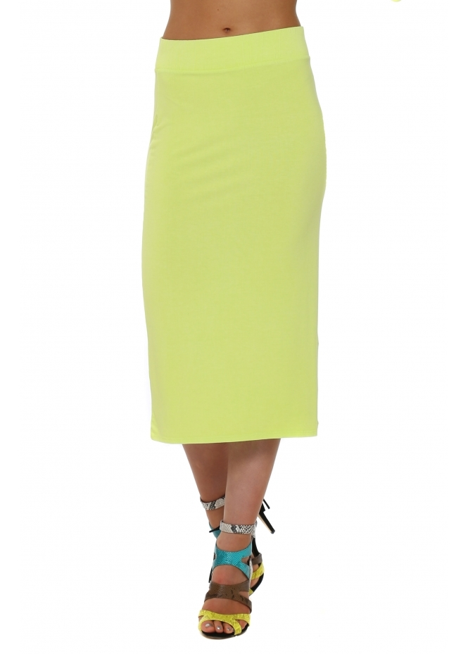 A Postcard From Brighton Mindy Citrus Jersey Midi Skirt