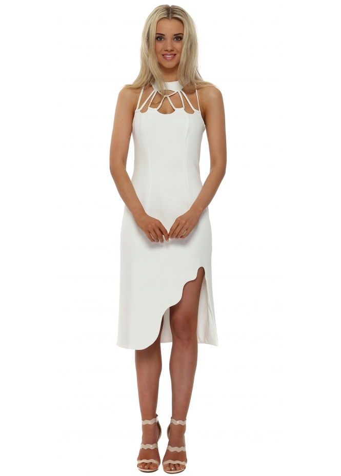 The 8th Sign Zenith Midi Dress In White