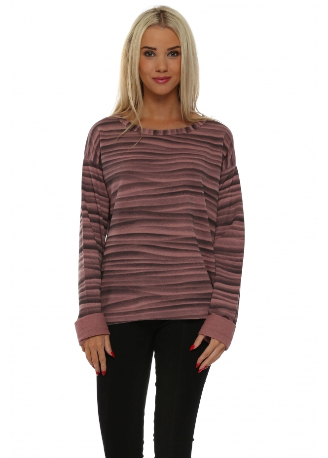 A Postcard From Brighton Vixen Veiled Mist Raw Edge Sweater In Rose Dust