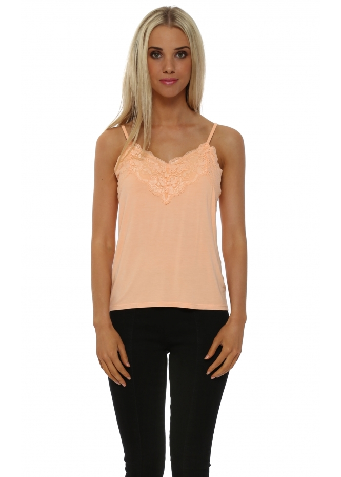A Postcard From Brighton Ming Ming Orange Ice Lace Camisole Vest