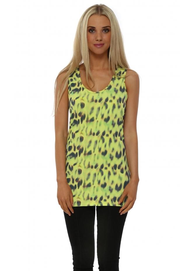 A Postcard From Brighton Citrus Melissa Marbs Leopard Print Vest
