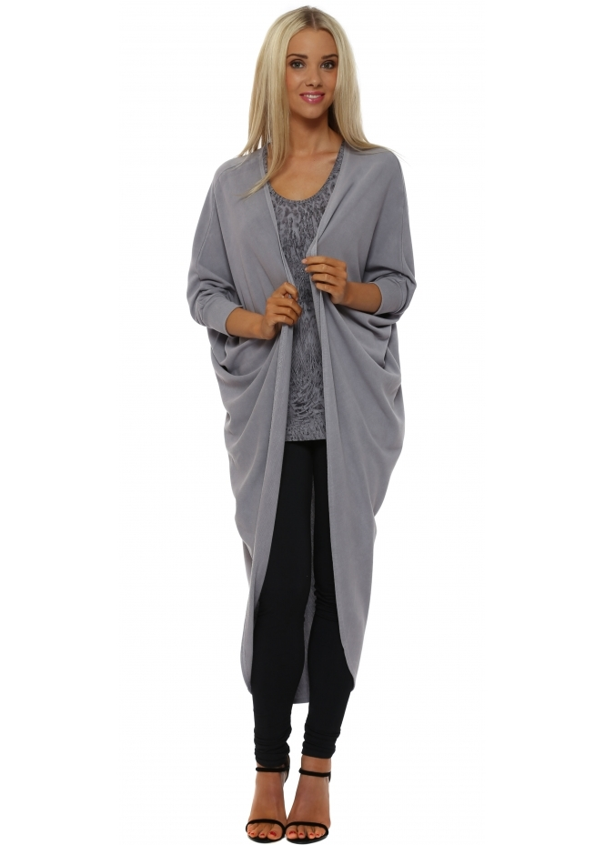 A Postcard From Brighton Tanya Maxi Drape Cocoon Pearl Cardigan
