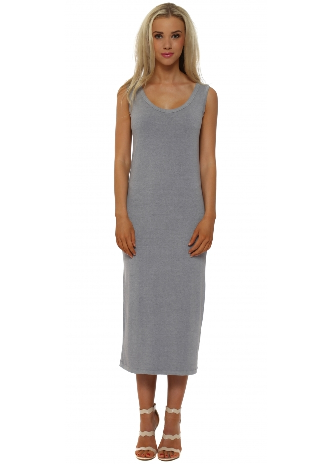 A Postcard From Brighton Nancy Pearl Melange Jersey Midi Dress