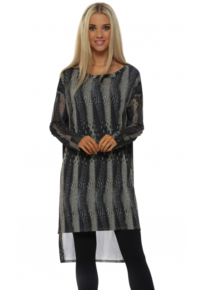 A Postcard From Brighton Dakota Dappled Light Tunic Top In Smokey