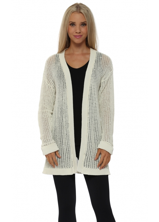 A Postcard From Brighton Poppet Foam Chunky Knit Cardigan