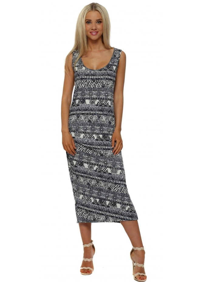 A Postcard From Brighton Bianca Foam Boutique Batik Midi Dress