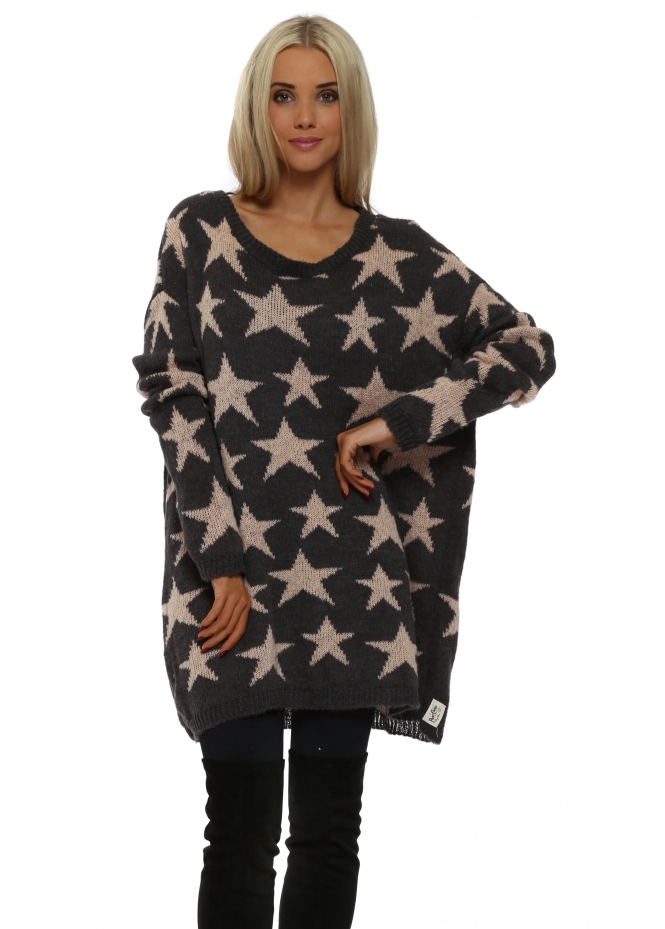 A Postcard From Brighton Stary Knit Buff Oversized Cosy Jumper