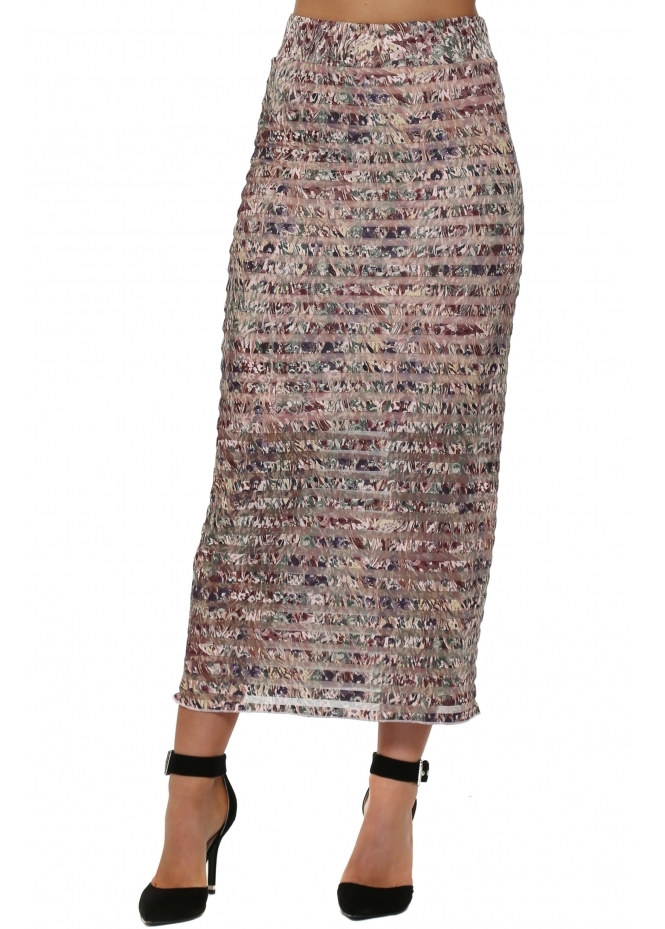 A Postcard From Brighton Layla Liberty Belle Buff Mesh Maxi Skirt
