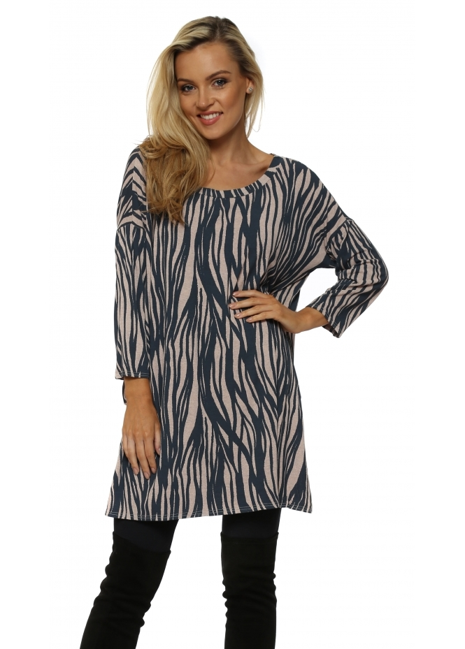 A Postcard From Brighton Raquel Rhythm Tunic Split Top In Cashmere Rose